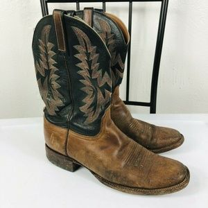 Lucchese 2000 Size 10.5 D Cowboy Boots Brown Black